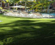 pool side fake lawn