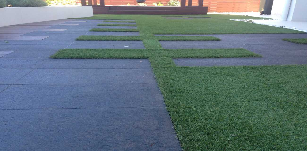 Residential fake lawn