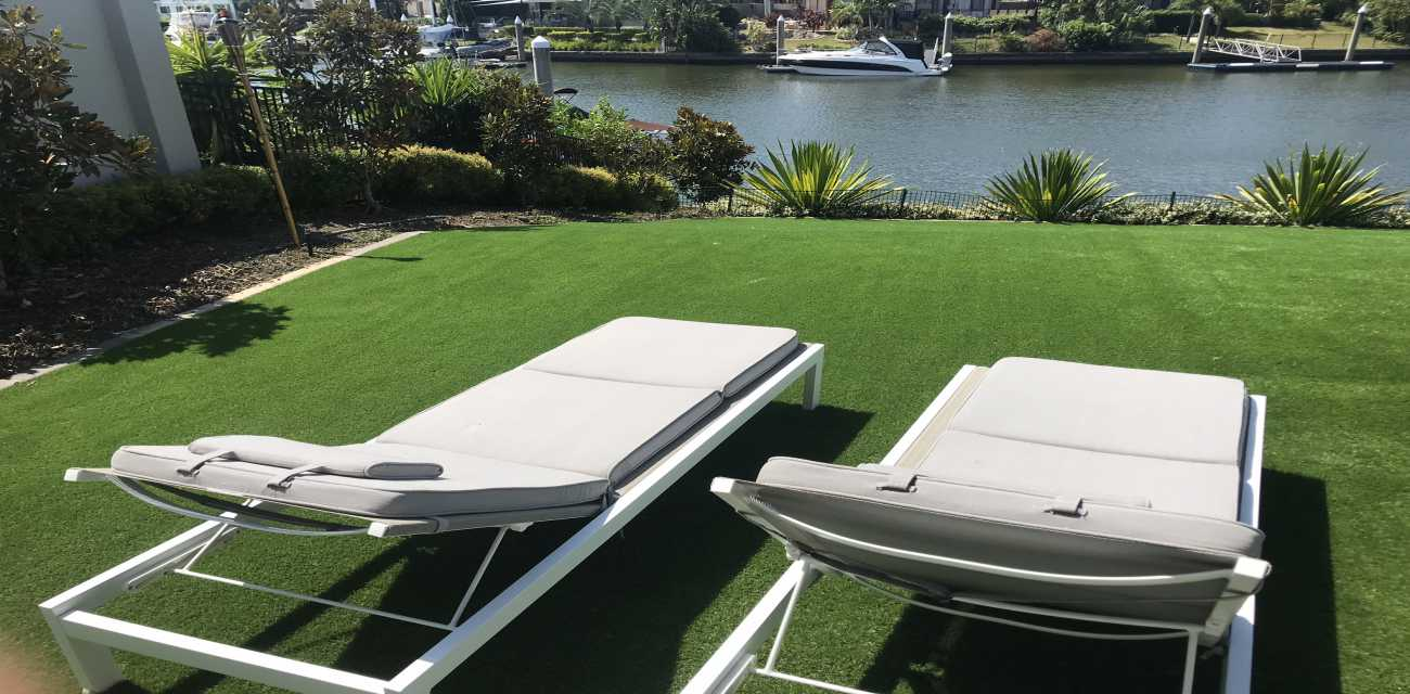 Comfort Turf make you fall in love in lazying around on this lawn.