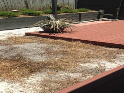 Artificial lawn before