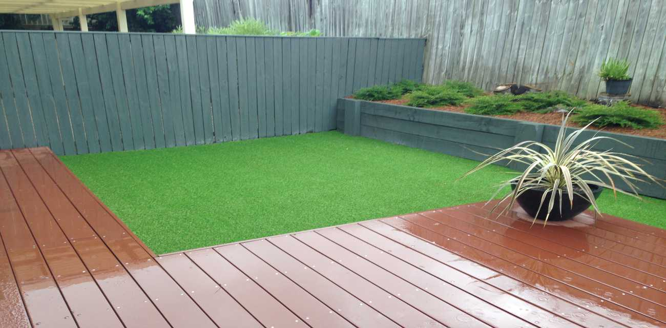 Artificial lawn after