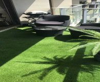 Luxe Turf fake grass on patio area