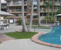 artificial grass pool side